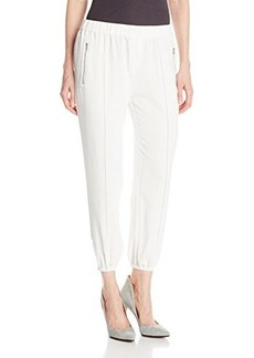 Joie Women's Charlet C Crepe Crop Relaxed Pant