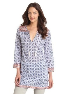 Joie Women's Daria Voile Multi Colored Trim Tunic
