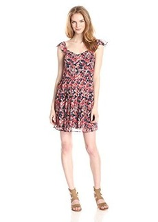 Joie Women's Edelfina Silk Watercolor Poppy Flared Dress