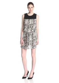 Joie Women's Floreal CDC Ocelot Print Blouson Sleeveless Dress