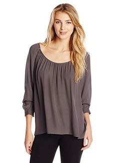 Joie Women's Jodelina Matte Silk Long Sleeve Blouse