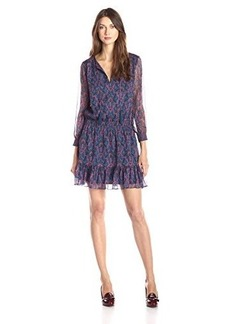Joie Women's Kleeia Printed Long Sleeve Dress, Freesia, Large