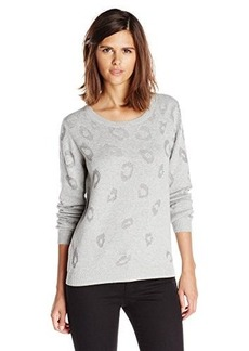 Joie Women's Lilibeth Animal Burnout Pullover Sweater