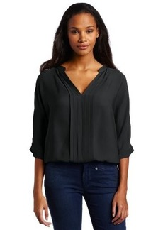 Joie Women's Marru Silk Pintuck Blouse