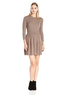 Joie Women's Peronne Sweater Dress, Heather Mahogany, Large