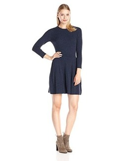 Joie Women's Peronne Sweater Dress, Heather Midnight Blue, Small