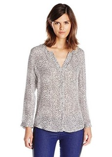 Joie Women's Purine Parisian Leopard Silk Long Sleeve Blouse