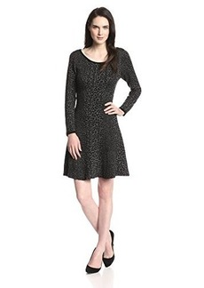 Joie Women's Romula Leopard Jacquard Fit and Flare Dress, Leopard, Medium