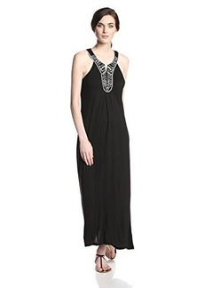 Joie Women's Ryken Embroidered Jersey Maxi Dress