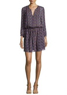 Joie Xyla Geo-Print Crepe Dress  Xyla Geo-Print Crepe Dress