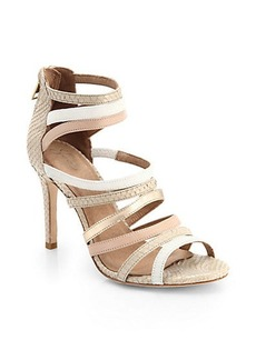 Joie Zee Mixed-Media Strappy Sandals