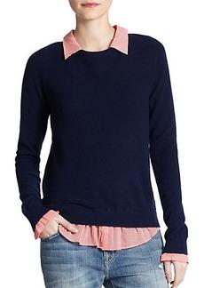 Joie Zhen Cotton/Cashmere Layered-Effect Sweater