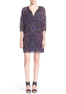 Joie 'Aggi' Paisley Print Silk Tunic Dress