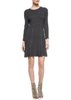 Jolia Drop-Skirt Knit Sweaterdress   Jolia Drop-Skirt Knit Sweaterdress