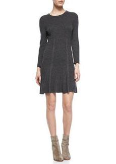 Jolia Drop-Skirt Knit Sweaterdress   Jolia Drop-Skirt Knit Sweaterdress