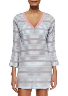Kirshna Striped Voile Tunic   Kirshna Striped Voile Tunic
