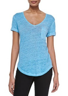 Larosa Scoop-Neck Tee with Pocket   Larosa Scoop-Neck Tee with Pocket