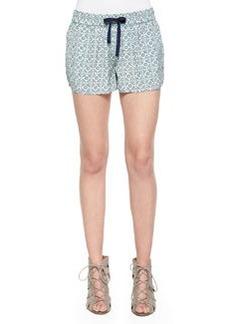 Layana B Printed Drawstring Shorts   Layana B Printed Drawstring Shorts
