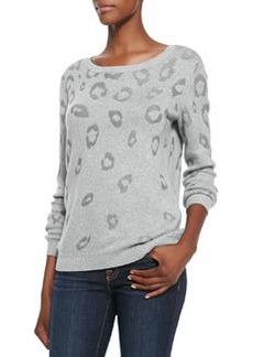 Lilibeth Animal-Print Knit Sweater   Lilibeth Animal-Print Knit Sweater