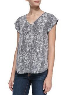 Lynny Leopard-Print Short-Sleeve Top   Lynny Leopard-Print Short-Sleeve Top