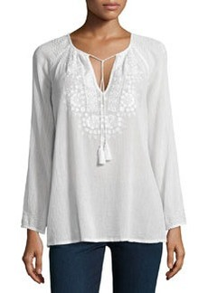 Majorie Embroidered Voile Top   Majorie Embroidered Voile Top