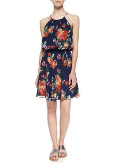 Joie Makana Floral Ikat-Printed Dress