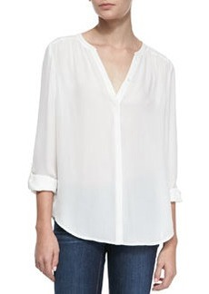 Marice Split-Neck Silk Blouse   Marice Split-Neck Silk Blouse