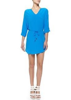 Motega Bright Silk Tie-Waist Dress   Motega Bright Silk Tie-Waist Dress
