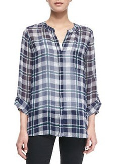 Nura Plaid Long-Sleeve Top   Nura Plaid Long-Sleeve Top