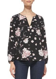 Odelette Floral-Print Silk Blouse   Odelette Floral-Print Silk Blouse