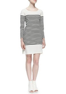 Pentea B Striped Knit Sheath Dress   Pentea B Striped Knit Sheath Dress