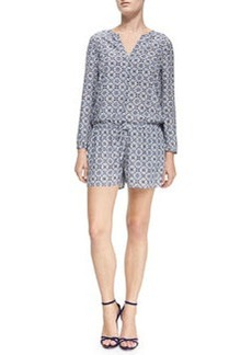 Rialto Printed Long-Sleeve Jumpsuit   Rialto Printed Long-Sleeve Jumpsuit