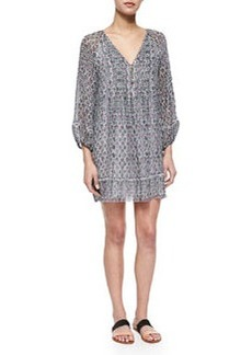 Sevigny Printed Silk Dress   Sevigny Printed Silk Dress