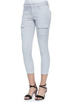 So Real Cropped Stretch-Twill Pants, Light Smoke   So Real Cropped Stretch-Twill Pants, Light Smoke