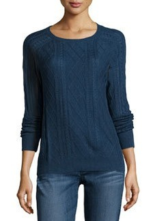 Soft Joie Annora Ribbed Cable-Knit Sweater, Deep Indigo