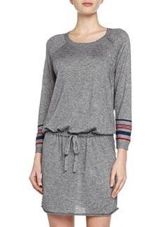 Soft Joie Blouson Dress in Heathered Jersey