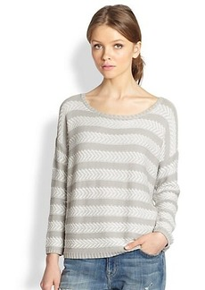 Soft Joie Cairo Chevron-Striped Cotton Sweater