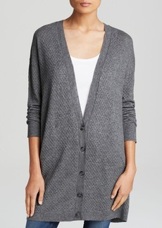 Soft Joie Cardigan - Fatima Textured Button Front V Neck