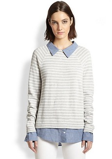 Soft Joie Diadem Layered Striped Pullover