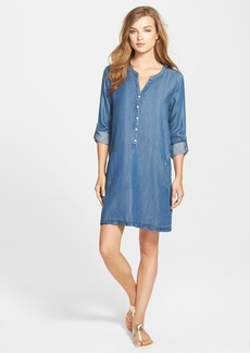 Soft Joie 'Eugine' Split Neck Shirtdress