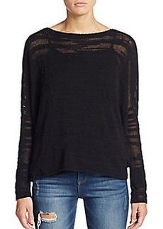 Soft Joie Lizbetha Burnout Cotton Slub Sweater