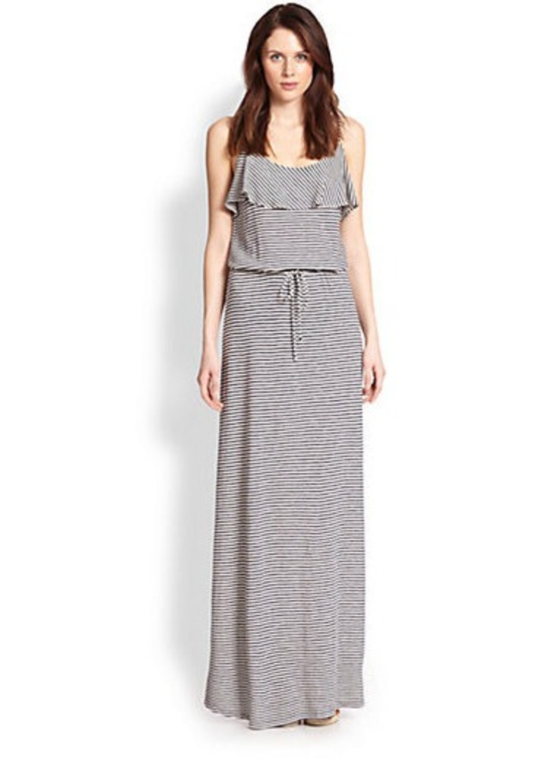 Soft Joie Striped Drawstring-Waist Maxi Dress