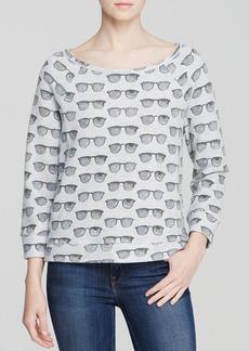 Soft Joie Sweatshirt - Banner Sunglasses Print