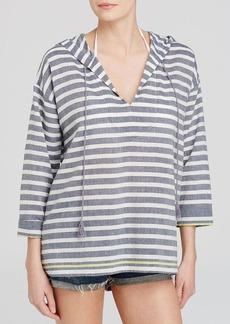 Soft Joie Tunic - Baja Stripe Hooded