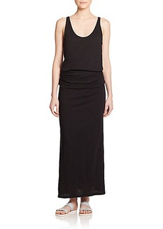 Soft Joie Wilcox Ruched-Waist Cotton Maxi Dress