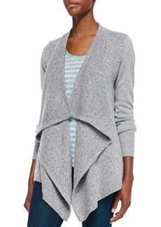 Starley Mixed-Knit Open Sweater   Starley Mixed-Knit Open Sweater
