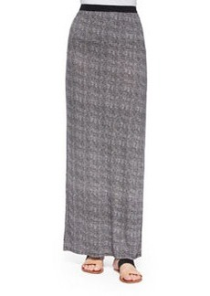 Textured Tweed-Print Maxi Skirt   Textured Tweed-Print Maxi Skirt