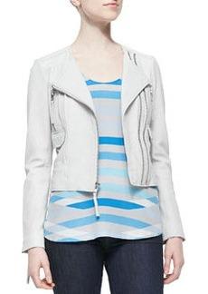 Vivianette Cropped Leather Jacket   Vivianette Cropped Leather Jacket