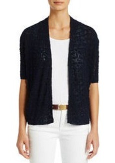 1/2 Sleeve Open Front Cardigan Sweater