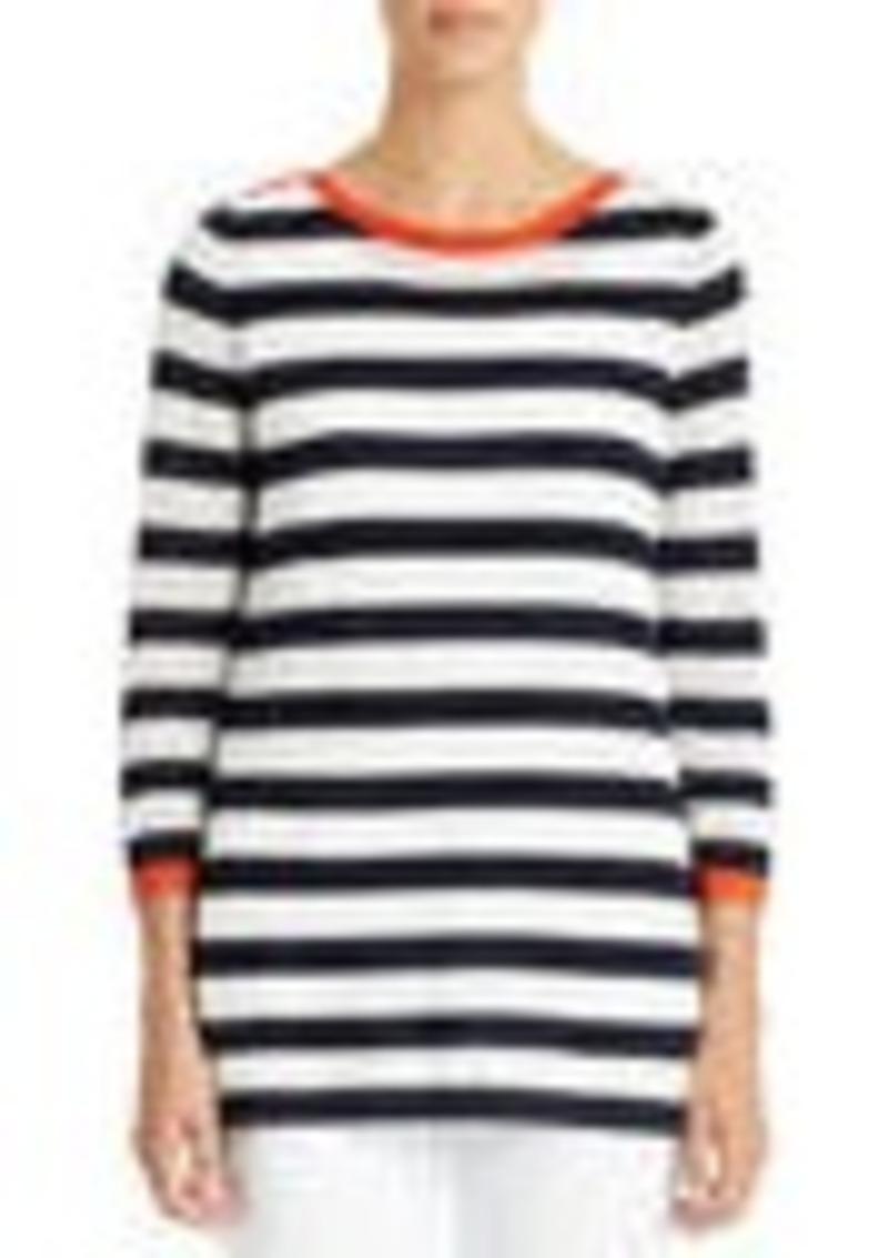 3/4-Sleeve Boat Neck Tunic